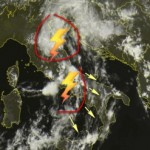 Allerta Meteo : i temporali si spostano al sud