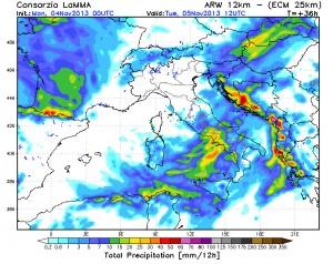 lamma precipitazioni 05 novembre 2013