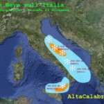 Arriva la neve sull'Adriatico
