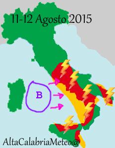 Previsioni 11-12 Agosto 2015