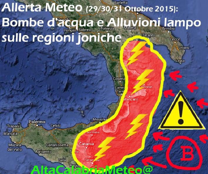Allerta Meteo_regioni joniche