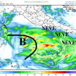 Arriva la neve al sud : domani possibile neve sino a Castrovillari (cs) e   Cosenza città